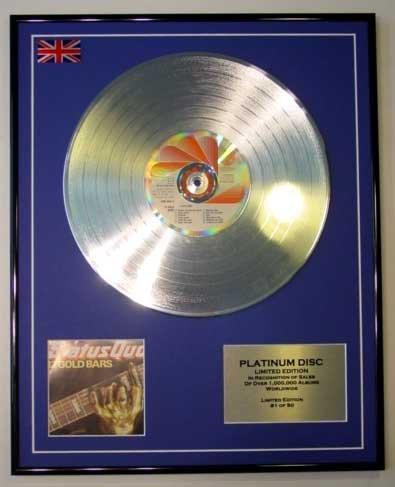 Status QUO/LTD Edition Platin-Scheiben/Schallplatten / 12 Goldbarren