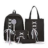 Mochila para niños de moda de las mujeres mochilas 4 Set mochila escolar diseño coreano bolsas de escuela para adolescentes niñas niños bolsa de la escuela bolsa de hombro