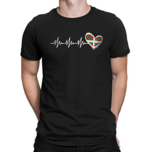buzz shirts Basque Country Heartbeat Mens T-Shirt Spain Espana Spanish Gift Bilbao
