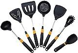 LMDH Conjunto de Utensilios de Cocina - 7pcs Utensilios de Cocina Silicona - Cocina Espátulas y cucharas para Utensilios de Cocina antiadherentes (Color : Orange)