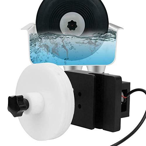 Tongdejing Ultraschall-Schallplattenreiniger-Rack, drehbares Reinigungszubehör für die Audio-Halterung mit Einstellbarer Leistung, Album-Waschmaschine