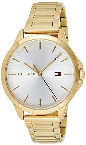 Tommy Hilfiger Damen Analog Quarz Uhr mit Edelstahl Armband 1782086