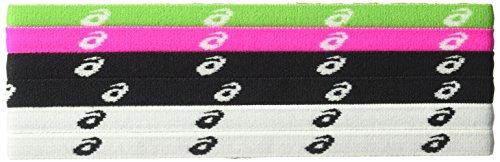 Asics Team Lot de 6 bandeaux pour femme, Femme, RN2266, Différents coloris., Taille unique