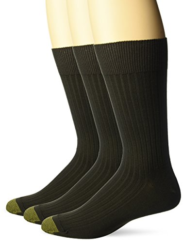 Gold Toe Herren Classic Canterbury Crew Socken (3 Stück), Schuhgröße: 39-46 - Braun -