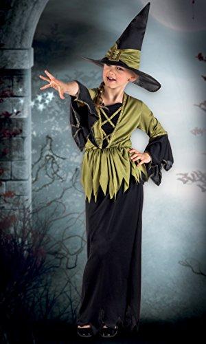 Boland- Costume Bambina Streghetta Woodland Witch, Verde/Nero, 7-9 anni, 78034