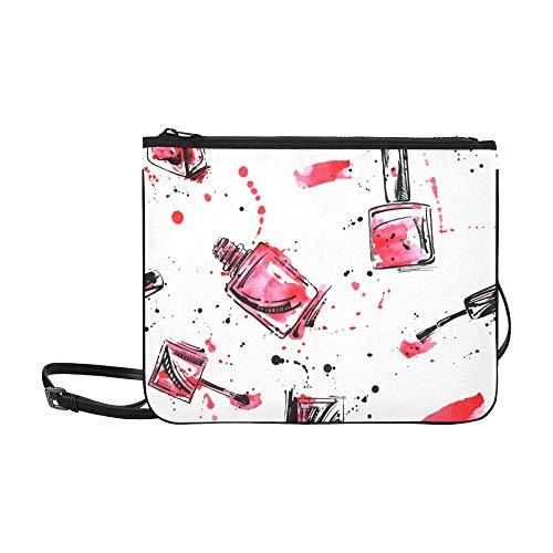 Yushg Umhängetasche Bunte Kunst Mode Nagellack Verstellbarer Schultergurt Modetaschen Für Mädchen Für Frauen Mädchen Damen Kinder Umhängetasche Umhängetasche Umhängetasche