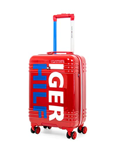 Tommy Hilfiger Mondo Expandable Hardside Spinner Luggage, Red, 20 Inch