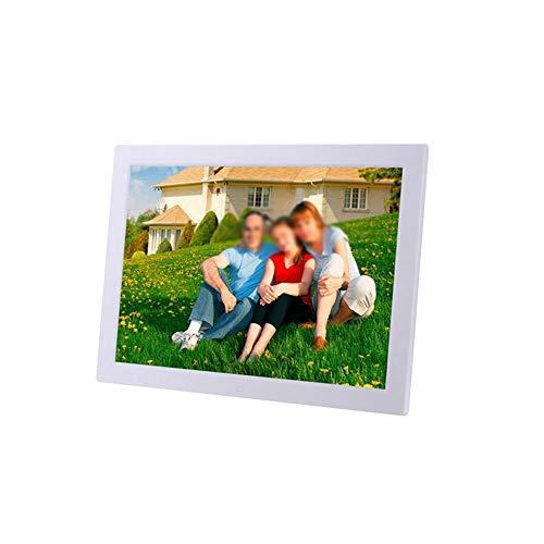 Marco de Fotos Digital Marco Digital de Fotos de 17 Pulgadas 1440 * 900 píxeles Reproducción de Video HD de Alta definición de 1080p Ranuras para Tarjetas SD y USB, Temporizador de Encendido/Apagado