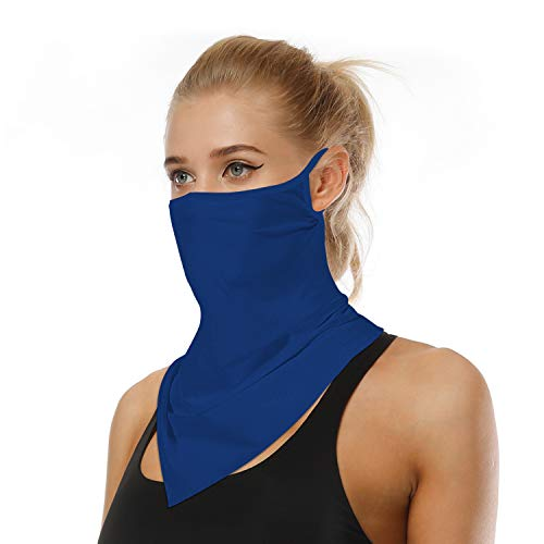 ARKIM Unisex Bandana Gesichtsmaske Schal Gesicht Rave Sturmhaube Hals Gamaschen Staubtuch Waschbare Wind Motorrad Maske Frauen Männer (Blau)
