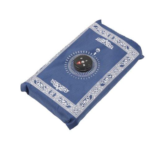 Ebest- Tappeto per preghiera Musulmana, con bussola, misura: 102 x 64 cm Tappeto da preghiera trasportabile, di piccole dimensioni, idea regalo per pregare rivolgendosi alla Mecca