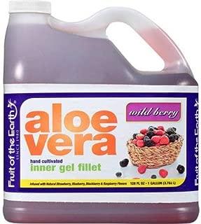 Fruit of the Earth Wild Berry Aloe Vera Juice, 128 Fl. Oz. Jug - Pack of 3