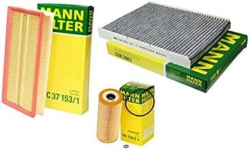 NEW Mann Oil Air Carbon Cabin Filter Service Kit for Volkswagen Jetta Golf TDI