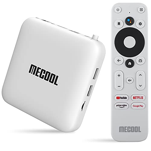 Android TV Box 10.0 MECOOL KM2 Android TV avec Netflix certifié Amlogic S905X2-B TV box Android 4K Streaming Media Player certifié Google 2G DDR4 8G EMMc BT 4.2 Smart Box TV Android Dolby Audio