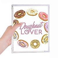 ドーナツ円ウエスタンデザート食物 硬質プラスチックルーズリーフノートノート