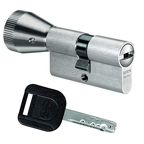 IKON R10 Knaufzylinder 60/40K inkl. 5 Schlüssel - Sicherheits-Türzylinder - Sicherungskarte - Wendeschlüssel (K=Knaufseite) (Einzelschließung)