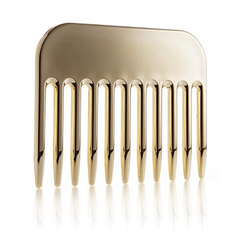 Styling Kamm in edlem Gold aus Kunststoff, grober Haarkamm, Damenkamm und Herrenkamm, 9cm, Reise Kamm von Fantasia
