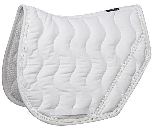 Equi-Theme/Equit'M 204679001 Tapis de Selle Unisexe avec Bordure Blanche Brillante, Taille Unique