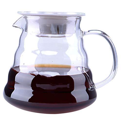 YQQ-Cafetière Coffee Pot Decanter/Carafe régulier - Nouvelle Forme de Verre Design - Poignée Ergonomique - 12 Capacité Coupe