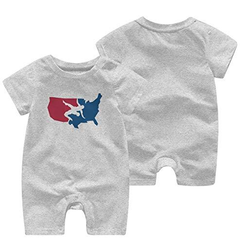 LouisBerry Usa Wrestling Kurzärmelige Mädchen Jungen Baby Strampler Baumwolle Neugeborenen Body Suit Baby Pyjama Boy Jumpsuit