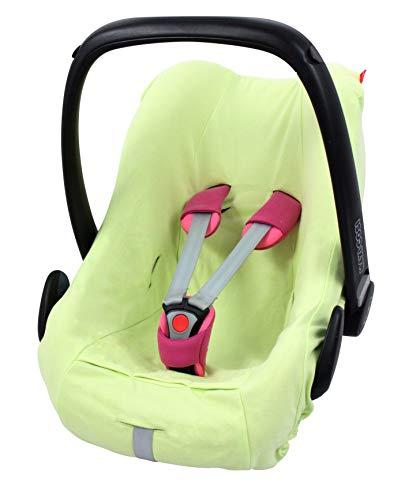 ByBoom® - Housse d'été, housse de protection, housse universelle pour coques bébé - coton 100% BIO; s'adapte universellement aux coques bébé et sièges auto par ex. Maxi-Cosi; NOUVEAUTÉ, Colour:Citron Vert
