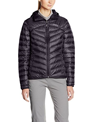 Odlo Jacket Insulated Hoody Cocoon N-THERMIC Veste/Blouson Femme, Black, FR : S (Taille Fabricant : S)