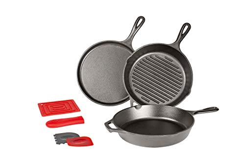 Lodge L6SPA41 Essential 6 Piece Pan Set, Black