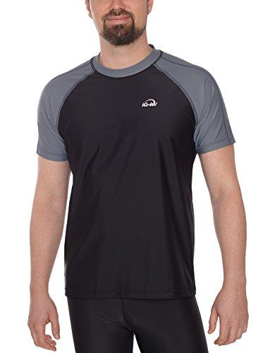 IQ UV Herren IQ-UV 300 Shirt Kurzarm Loose Fit UV T-Shirt, ash-Black, XXL