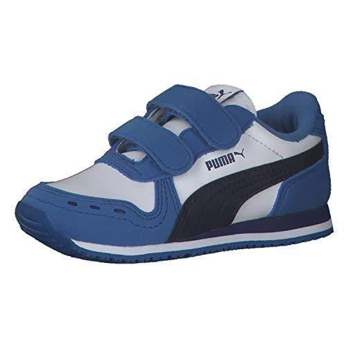 Puma Unisex Baby Cabana Racer SL V INF Sneaker, White-Peacoat-Star Sapphire, 25 EU