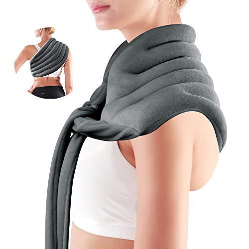 Linconfort - Cuscino termico con semi termico caldo/freddo, cuscino riscaldante al microonde o freddo in freezer, scalda schiena e scalda spalla e collo, 50 x 23 cm
