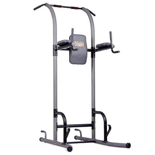 Body Champ VKR1010 Fitness Multi function Power Tower / Multi station for Home Office Gym Dip Stands Pull Up Push up VKR, GREY, One Size
