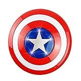 PRETAY Escudo Capitan America CapitáN Disfraz Shield 1: 1 Apoyos de PelíCula Juguete Super HéRoe Decoración para Colgar En La Pared De La Barra CapitáN Disfraz Shield 32CM