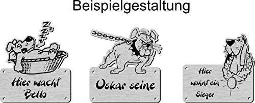 Namensschild mit Wunschtext und Motiv, Gravur für Hundehütte, Hundehaus - 5