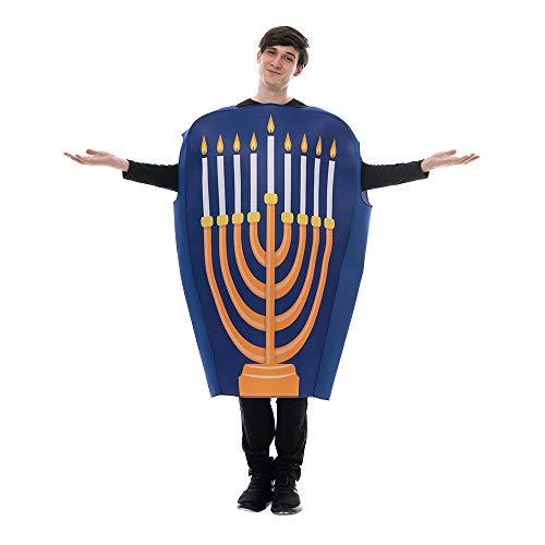 EraSpooky Adult Hanukkah Menorah Costume Jewish Celebration Chanukah Festival Fancy Dress Outfit