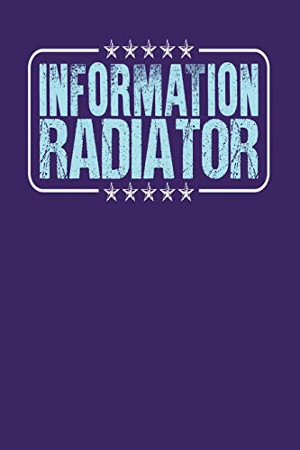 Information Radiator: Dark Purple, Light Blue Design, Blank College Ruled Line Paper Journal Notebook for Project Managers and Their Families. (Agile ... Book: Journal Diary For Writing and Notes)