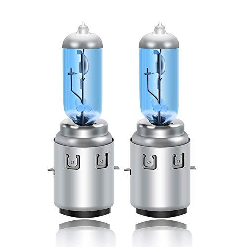 DZG - S2 / Ba20d Halogenlampen - 12V 35/35W Super Weiße Scheinwerferlampen 6000K Motorrad Hi/Lo Glühlampe, 2 Stück