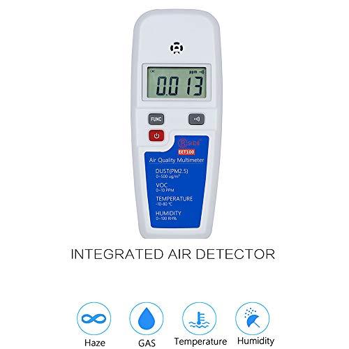 Tragbar Luftverschmutzungsdetektor Auto Luftqualitätsmonitor Thermometer Hygrometer Verschmutzung Meter Luft Detektor Für CO2 PM2.5 TVOC Echt Zeit Aufnahme