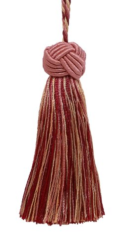 Decorative 89mm Tassel / RED, LIGHT ROSE / Baroque Collection Style# BTS Color: ROSE BOUQUET - 7953