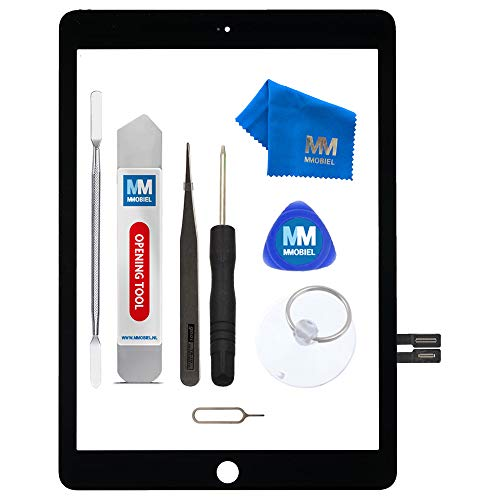 MMOBIEL Digitizer Repair Kit Compatible with iPad 6.Gen 2018 9.7 Inch (Black) Touchscreen Display Assembly