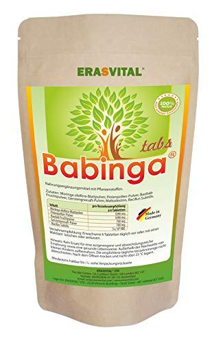 BABINGA® Presslinge 1440 Tabletten = 1016 g Pine Pinien Pollen Moringa Baobab Gerstengrassaft Bacillus Subtilis Hergestellt in Deutschland