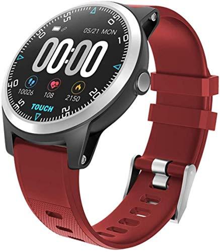 Smart Watch ECG Heart Rate Bracelet Blood Pressure Fitness Tracker Waterproof Color Screen Men Women Sport Adroid IOS Watch-Red