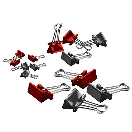 Office Depot Brand(R) Binder Clips, Small, 3/4in. Wide, 3/8in. Capacity, Assorted Colors, Pack of 36, ODBC-SML