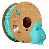 Polymaker Matte PLA Filament 1.75mm Teal 1kg Carton Spool PLA Filament 1.75 - PolyTerra PLA 3D...