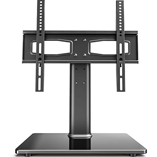 Fitueyes Universal TV Stand Tabletop TV Base with Mount for 2755 inch Flat Screen Tvs Vizio/Sumsung/Sony Tvs/Xbox One/tv Components Max VESA 400x400