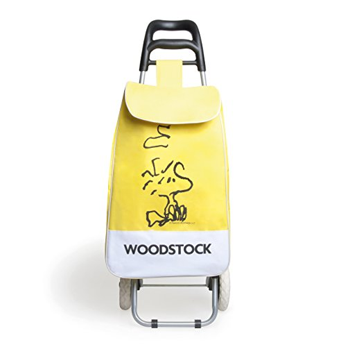 Excelsa Peanuts Woodstock Carrello Spesa, 38 lt, Poliestere, Giallo, 90x34x4 cm
