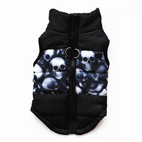 FHJZXDGHNXFGH-ES Ropa Abrigada para Perros Chaqueta de Abrigo para Perros de Invierno a Prueba de Viento Chaqueta de algodón Acolchada Clothesutfit Vest Disfraz con Anillo en D