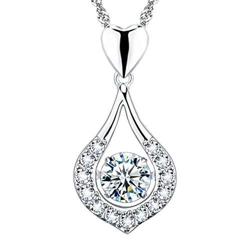 """""""You Are The One"""" Twinkling Heart Diamond Necklace"""