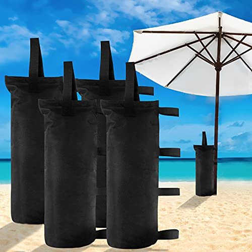 venrey 4-Pack 112 LBS Canopy Sandbags Weight Bags, Outdoor Pop Up Canopy Tent Gazebo Weight Sand Bag Anchor Kit, Sand Bags Without Sand - Black