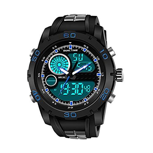WNGJ Relojes para Hombre, Reloj de Deportes al Aire Libre a Prueba de Agua, Reloj de Moda, Reloj, Reloj, Deporte, Deporte, Reloj, Reloj, Reloj, Reloj, Reloj, Reloj, Reloj Blue