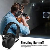 シューターのための射撃訓練のための防音イヤーマフスポーツイヤーマフ(black)