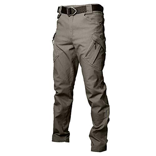 TUONROAD Männer Slim Straight Fit Work Hose Military Style Armee Tarnung Taktisch Hose Grün 34